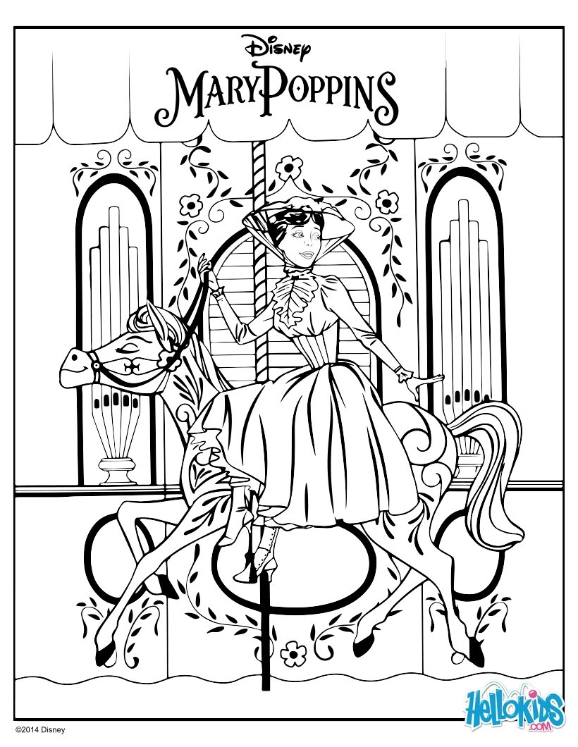 mary poppins coloring pages - mary poppins