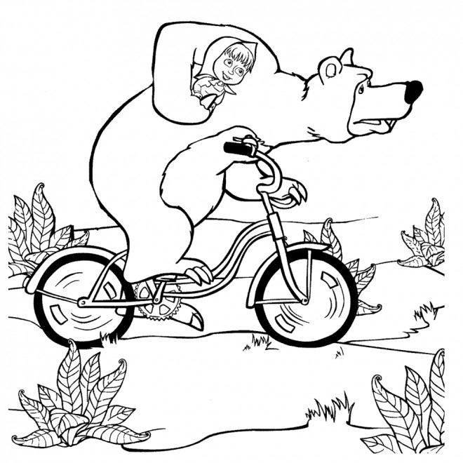 24 masha and the coloring pages pictures free