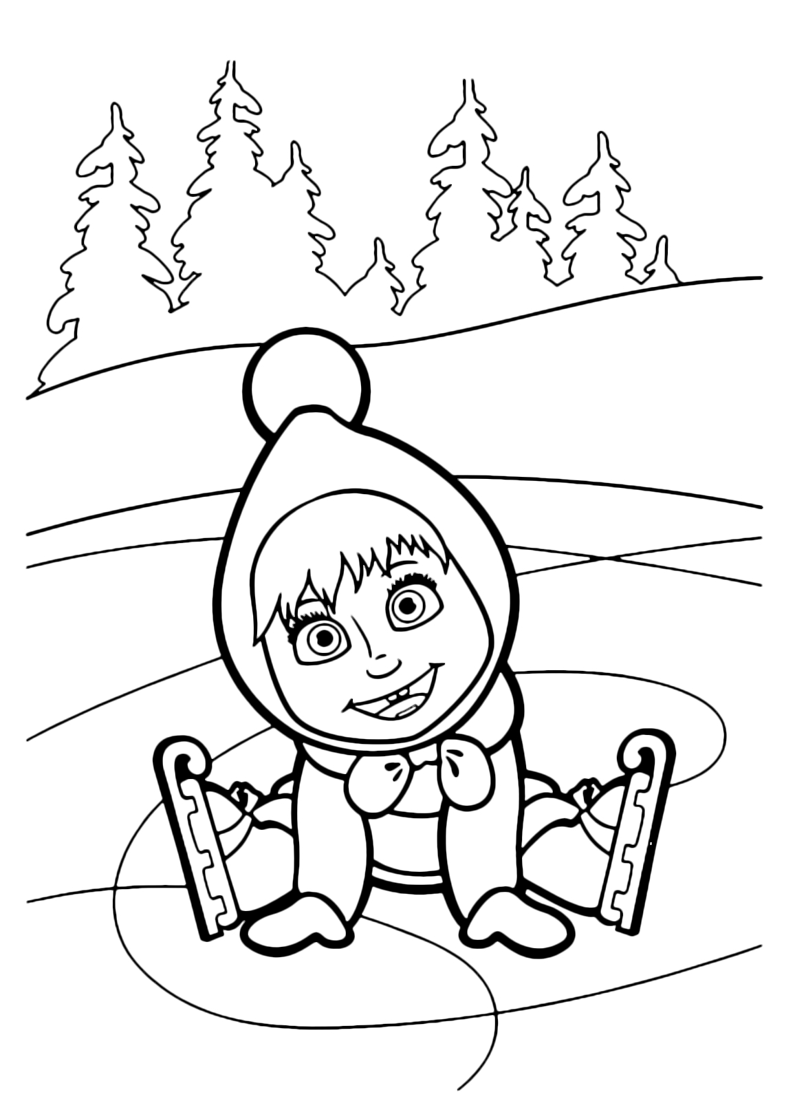 24 Masha and the Bear Coloring Pages Pictures | FREE COLORING PAGES