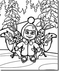 masha and the bear coloring pages -