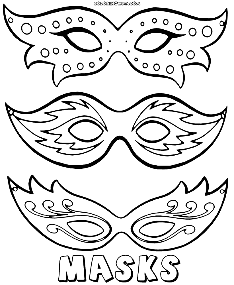 mask coloring pages - mask coloring pages