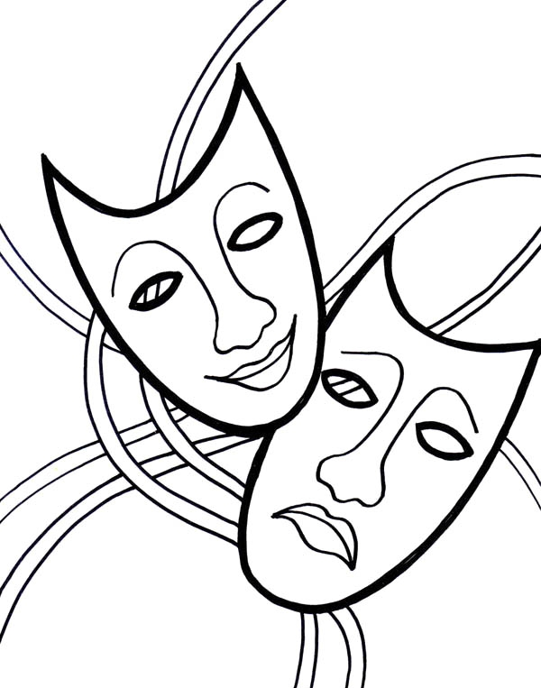mask coloring pages - page=2