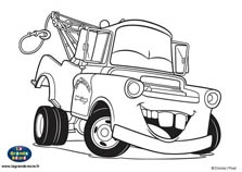 mater coloring pages - coloriages martin 152