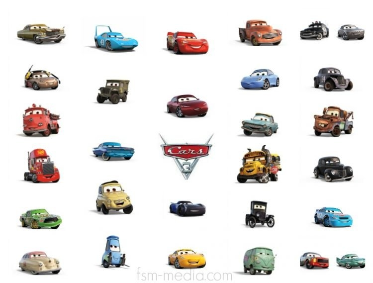 mater coloring pages - car 3 characters