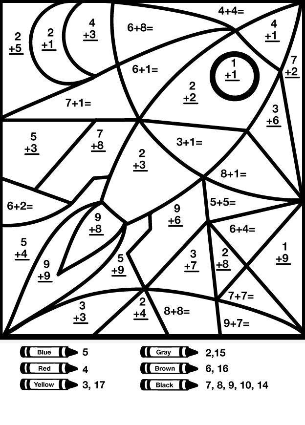 math coloring pages - rocket math colouring pages 2