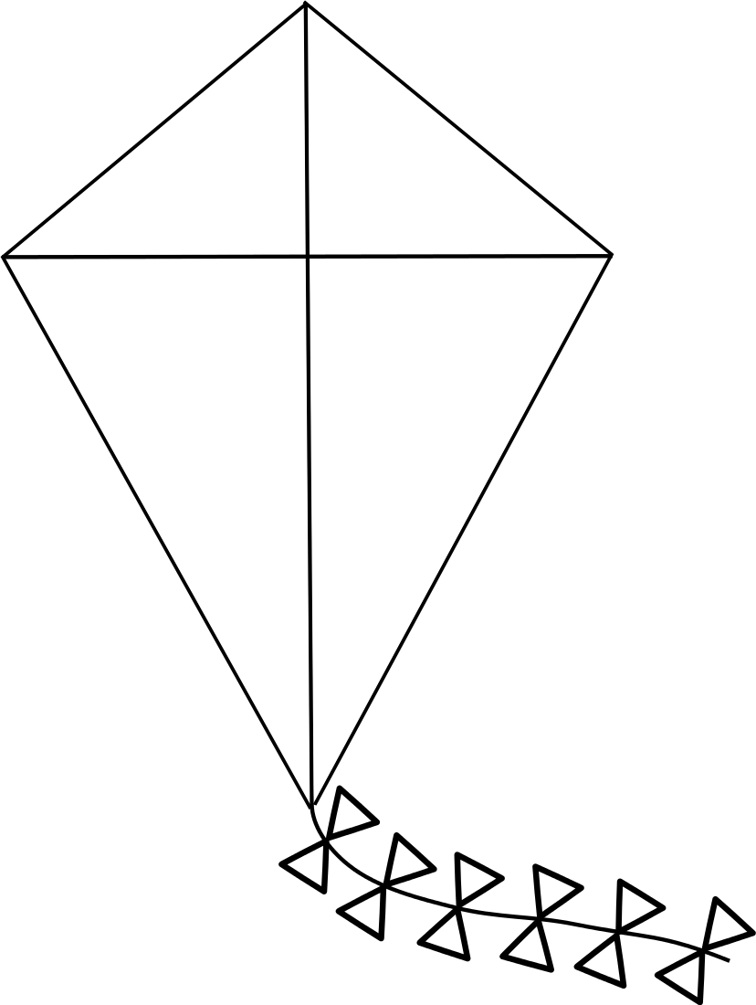 math coloring pages - kite coloring