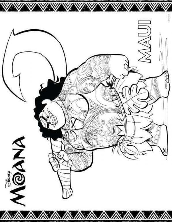 maui coloring pages moana maui coloring pages kids n fun - Coloring Pages Kids N Fun 2