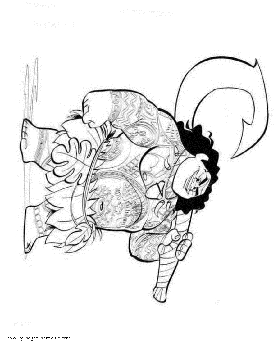 maui coloring pages - moana coloring pages id=3