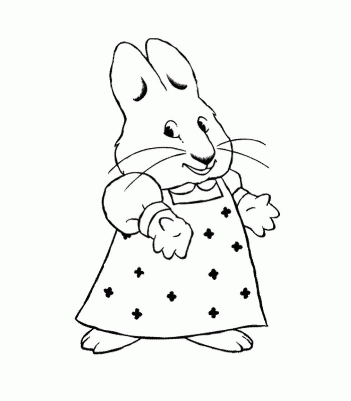 max and ruby coloring pages - max and ruby coloring pages