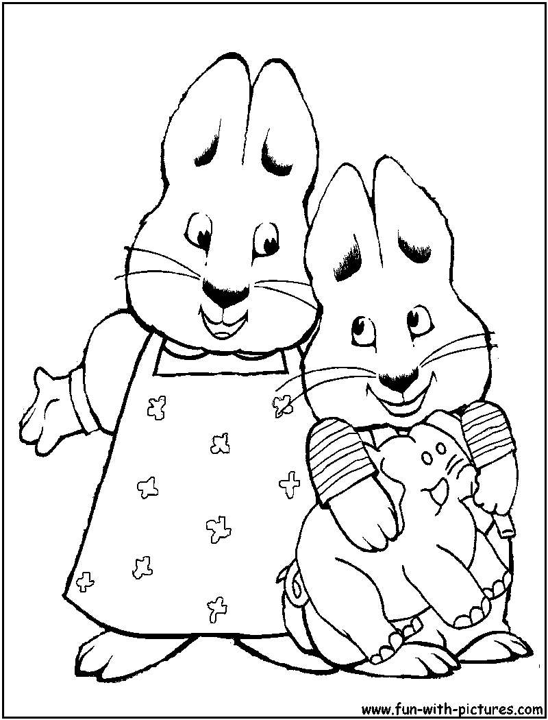 max and ruby coloring pages - max and ruby printable coloring pages