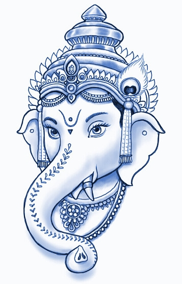 may coloring pages - ganesh sketch