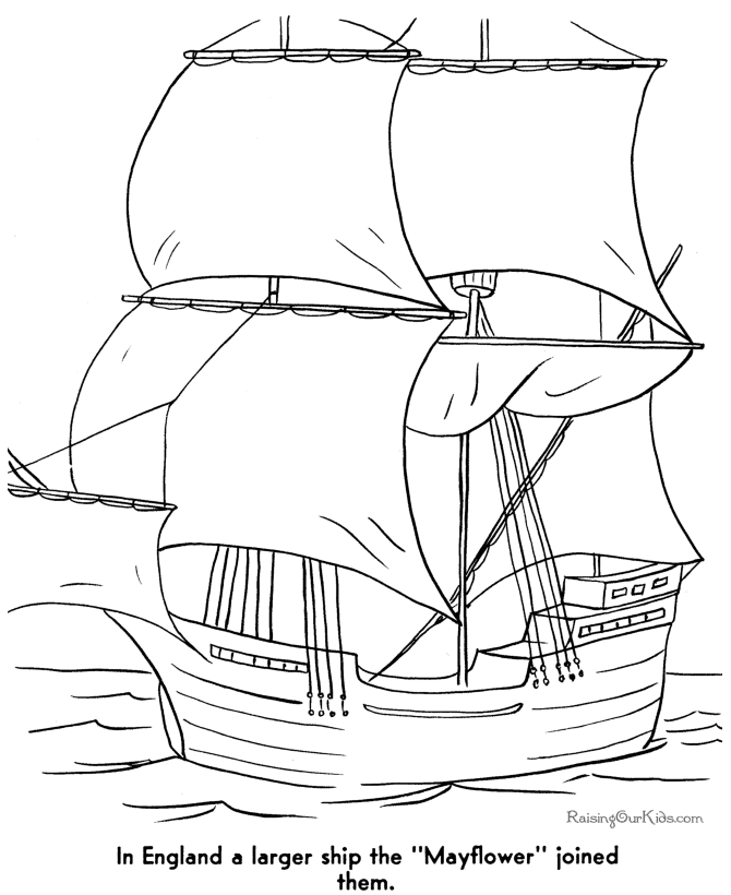 mayflower coloring page - free printable mayflower coloring pages