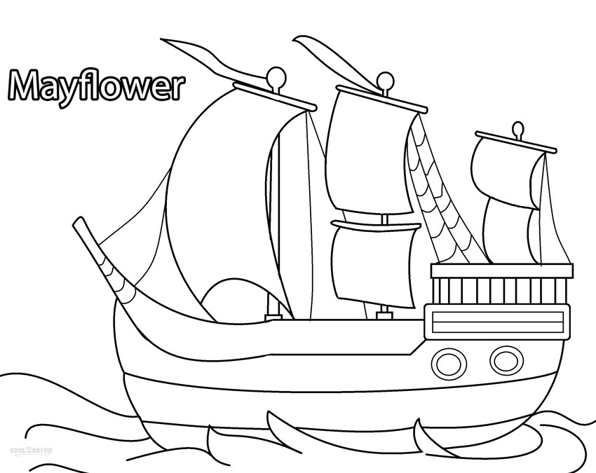 Mayflower Coloring Page - Free the Mayflower Coloring Pages