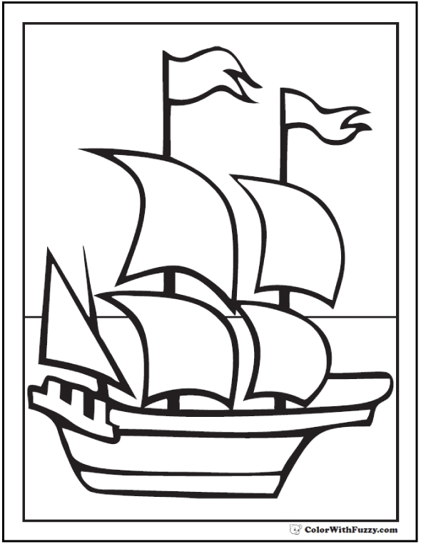 mayflower coloring page - mayflower coloring page