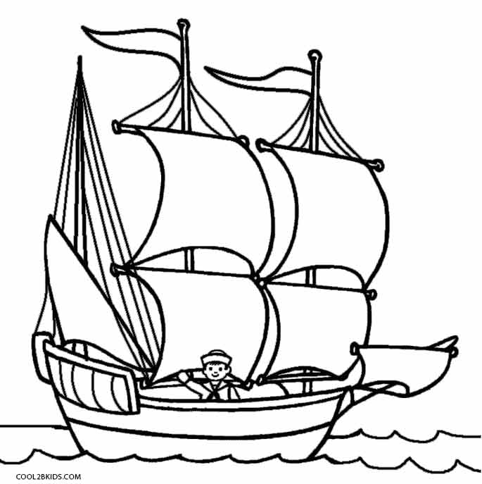 mayflower coloring page - mayflower ship coloring pages sketch templates