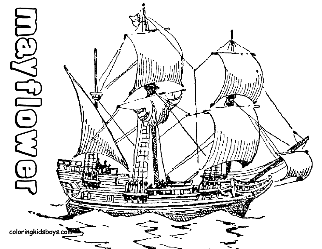 mayflower coloring page - mayflower coloring pages