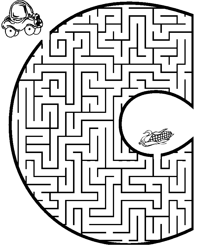 maze coloring pages - maze coloring page