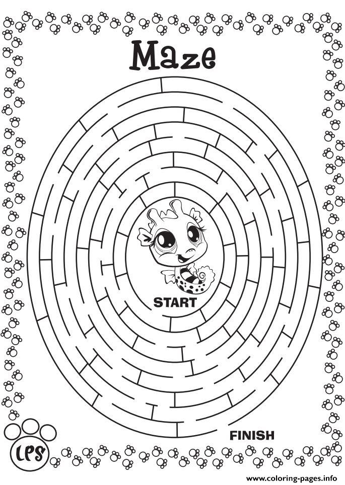 maze coloring pages - maze game printable coloring pages book