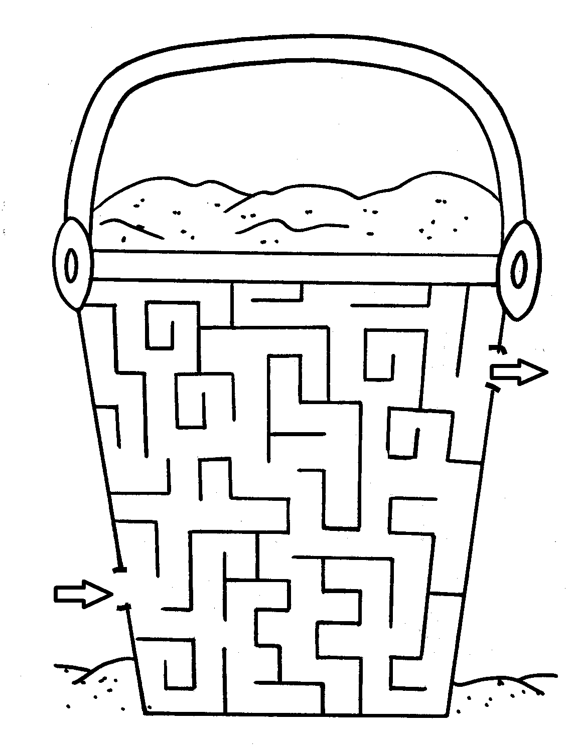 maze coloring pages - 9