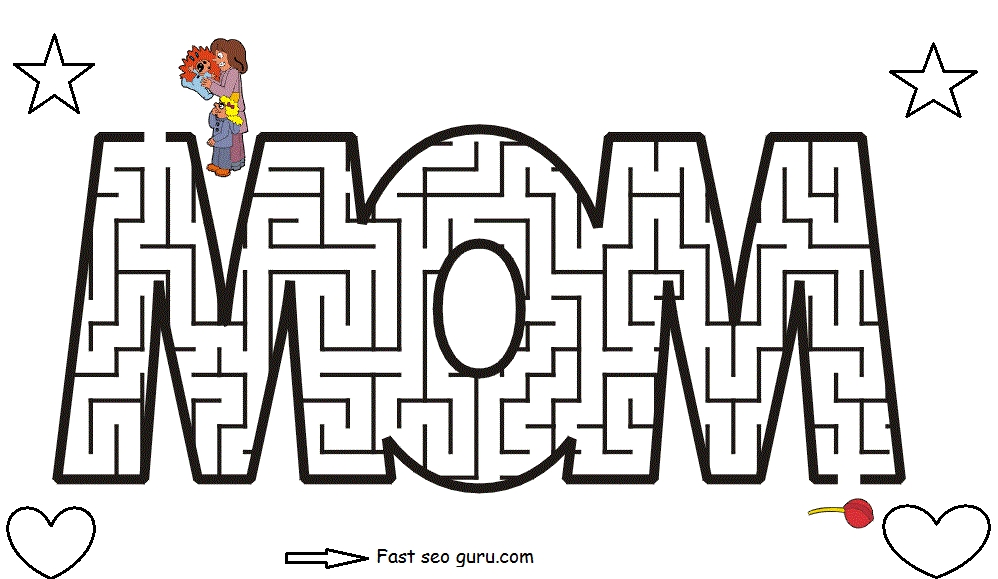 maze coloring pages - r=mazes for kids