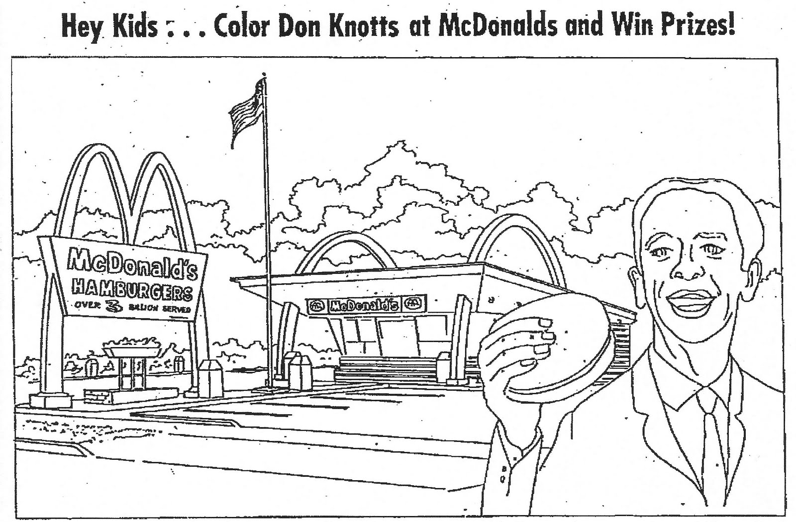 free mcdonalds coloring pages | Mcdonalds Sign Page Coloring Pages