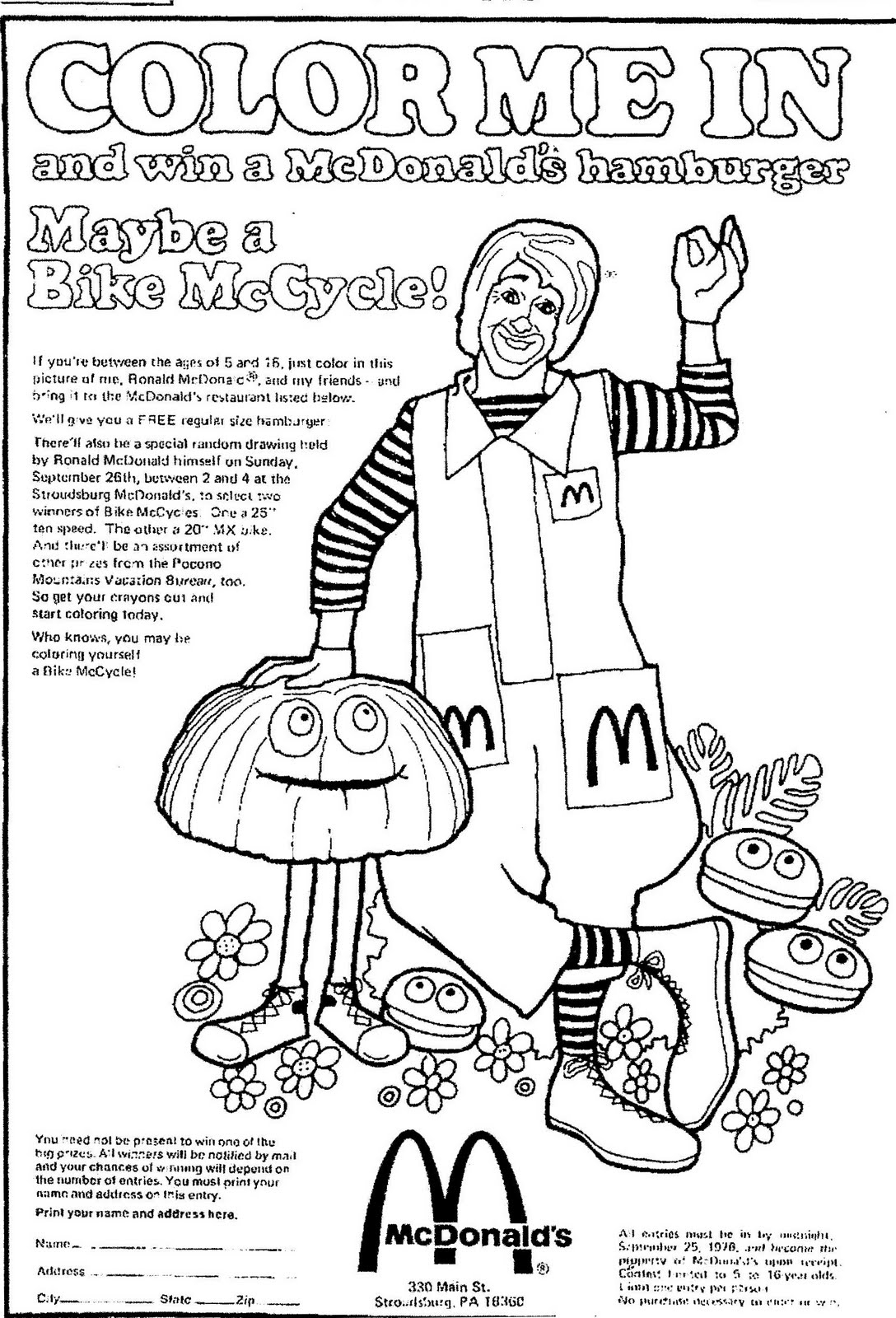 23 Mcdonalds Coloring Pages Images Free Coloring Pages Part 3