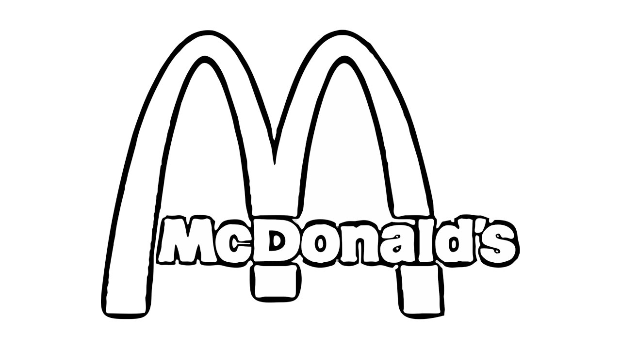 mcdonalds coloring pages - mcdonalds sign page sketch templates
