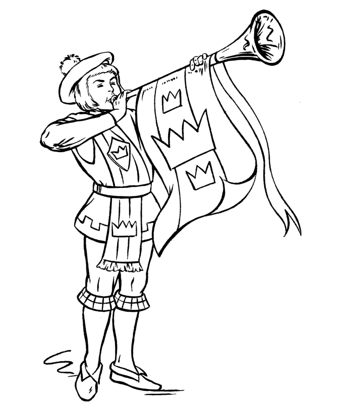 medieval coloring pages - knights 105