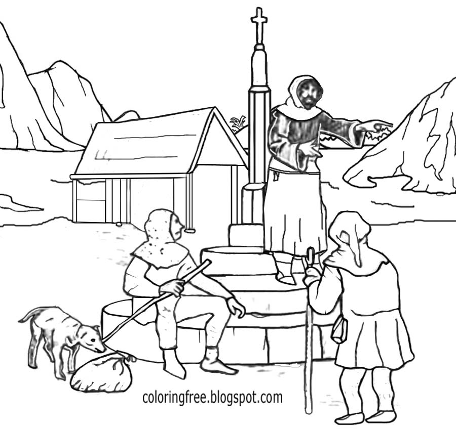 medieval coloring pages - dark ages me val coloring pages for