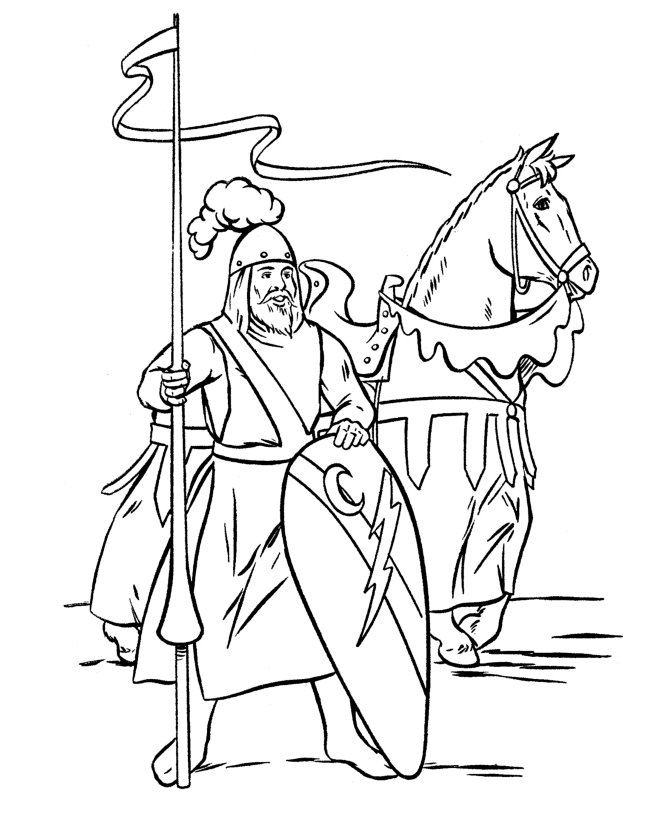 medieval coloring pages - me val coloring page