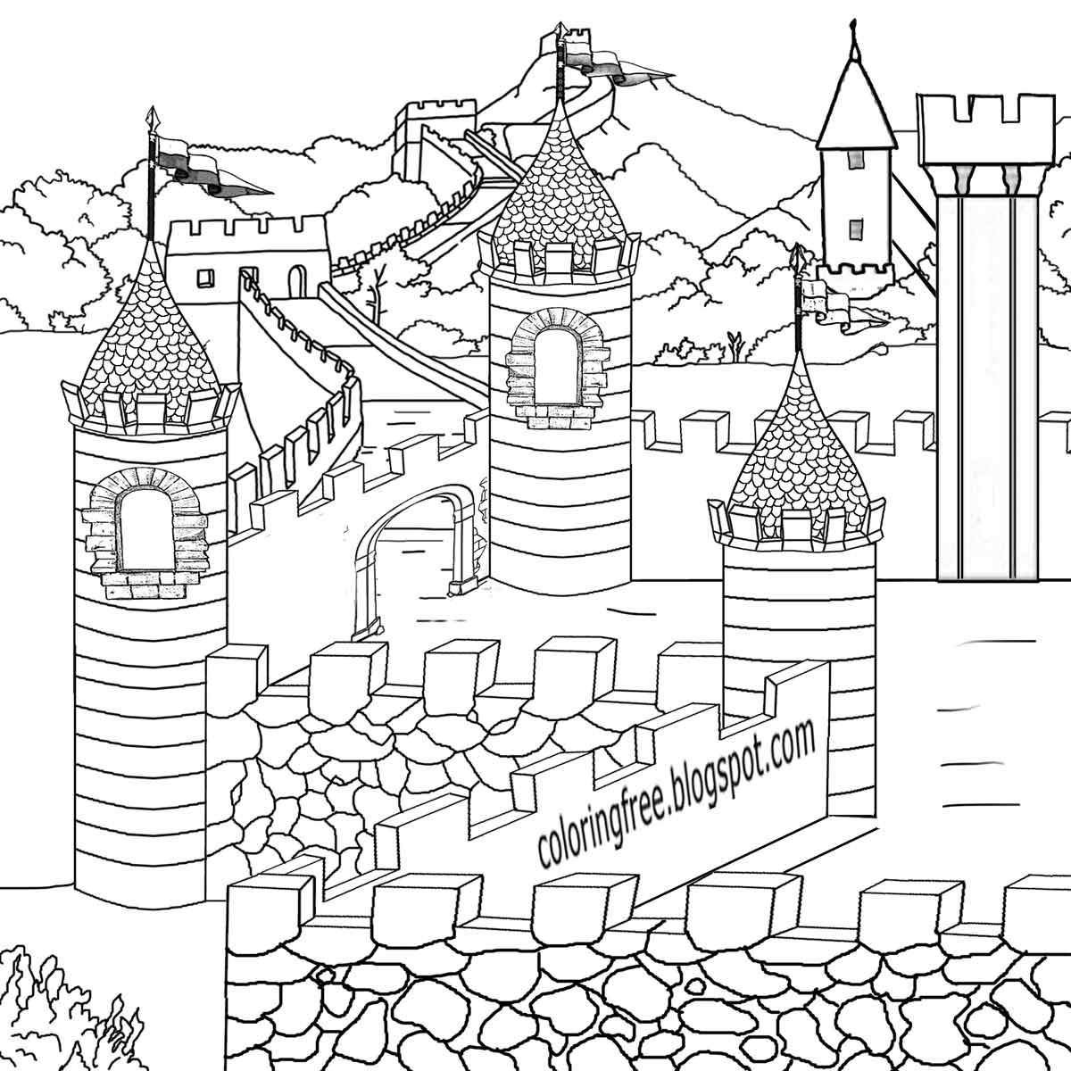 medieval coloring pages - me val coloring pages