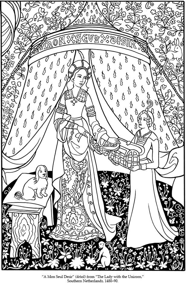 medieval coloring pages -