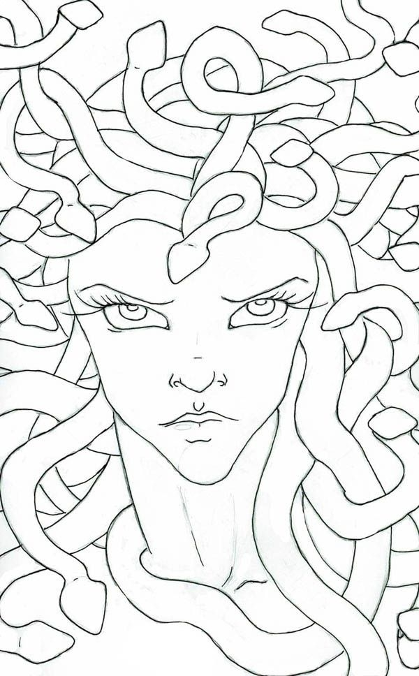 medusa coloring pages - medusa coloring page