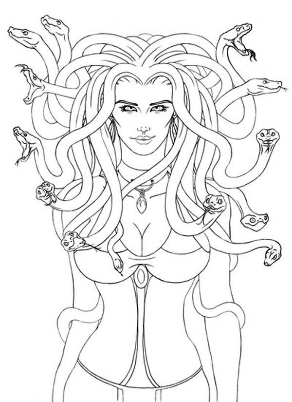 Medusa Coloring Pages - Medusa Coloring Page Coloring Home