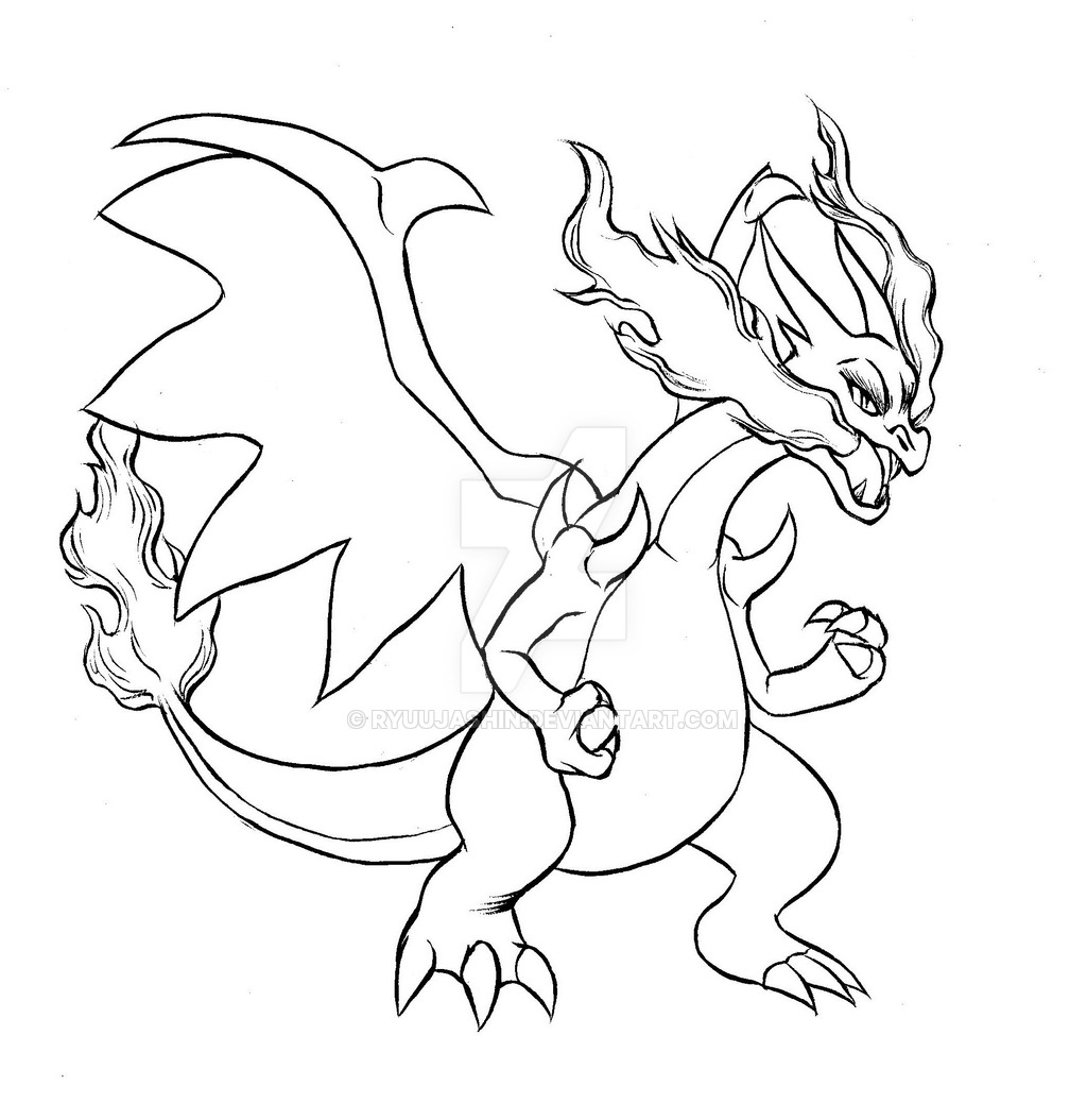 mega charizard coloring page - pokemon mega charizard coloring pages sketch templates