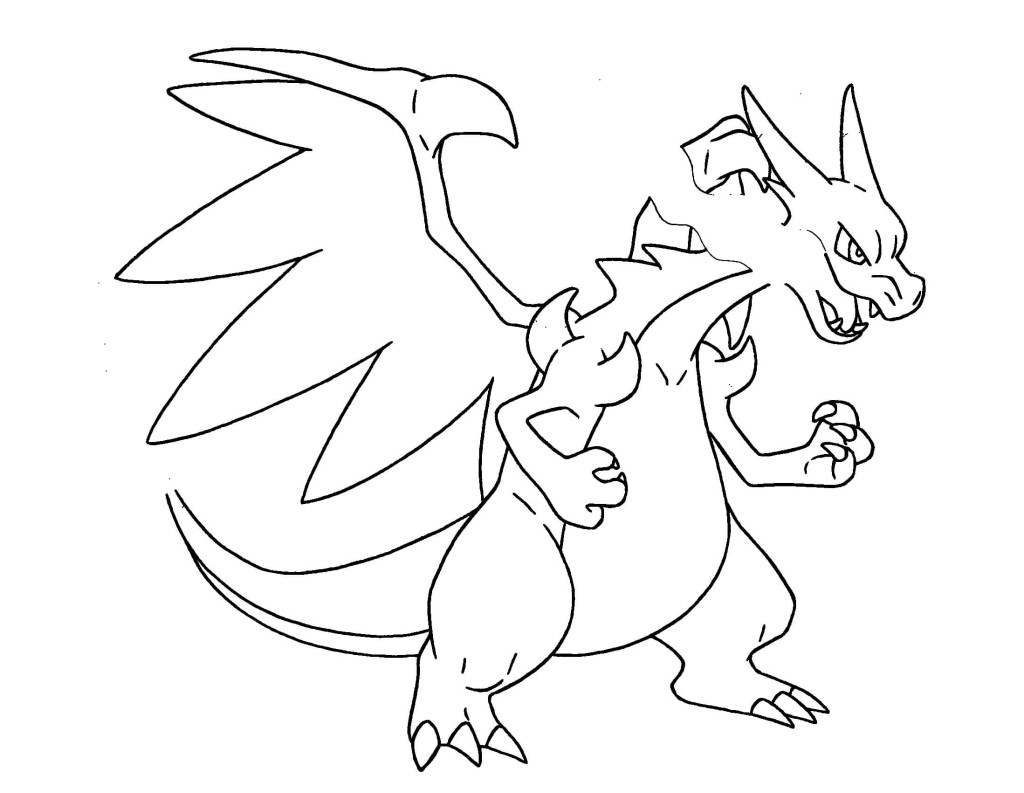 mega charizard coloring page - pokemon mega charizard coloring pages images