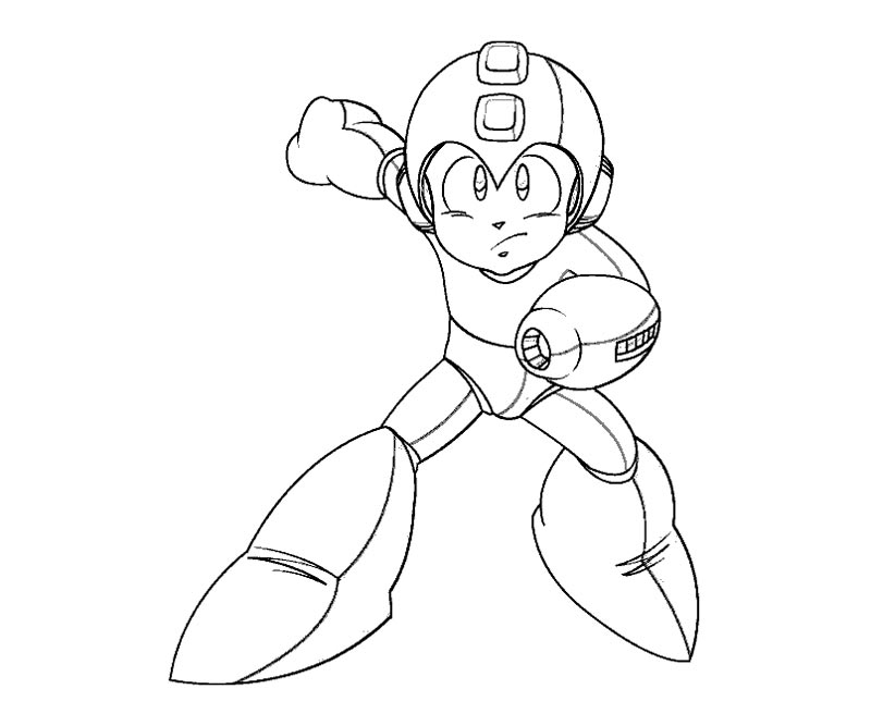 mega man coloring pages - q=mega man color sheets
