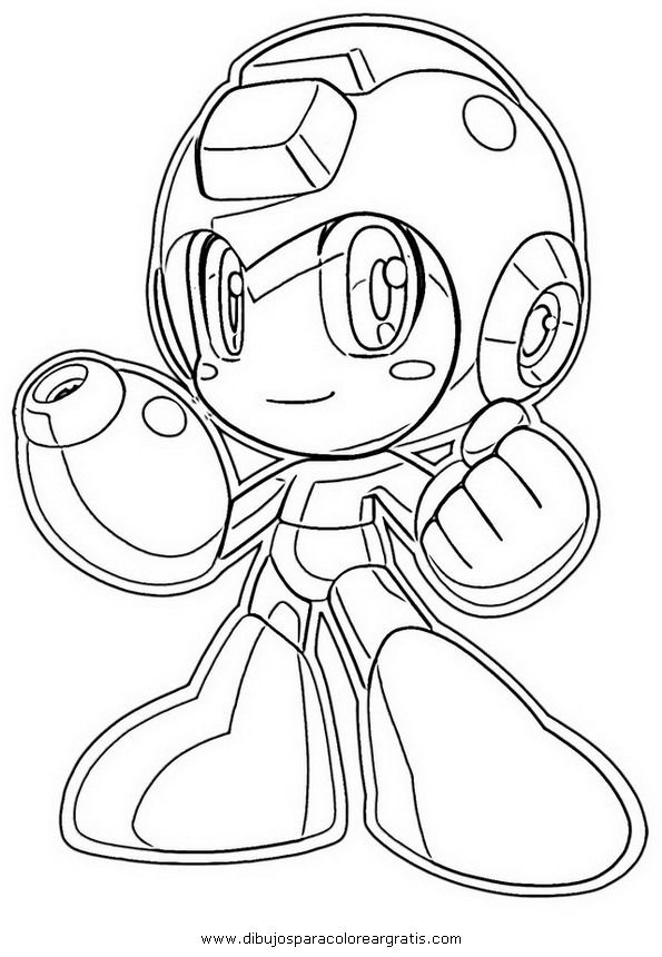 mega man coloring pages - mega man printable coloring pages