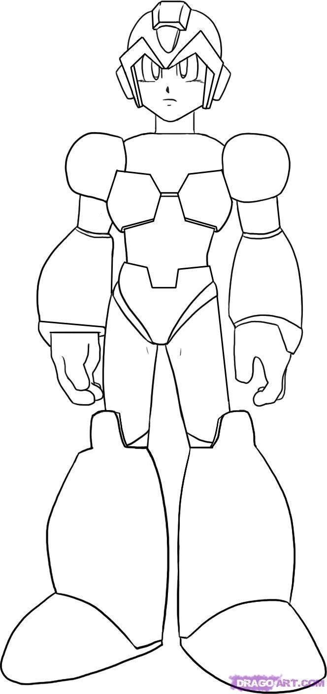mega man coloring pages - megaman coloring pages