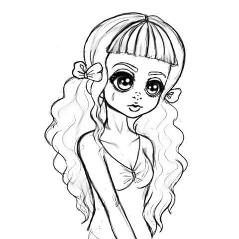 melanie martinez coloring book pages - cry baby melanie martinez coloring page sketch templates