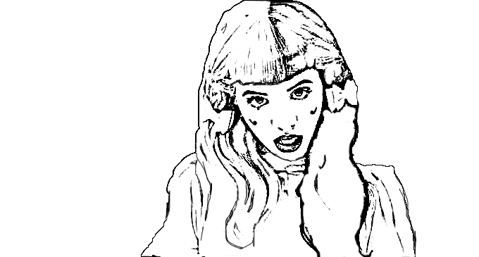 melanie martinez coloring book pages - melanie martinez coloring pages sketch templates
