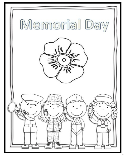 memorial day coloring pages - memorial day flag coloring pages for preschooler