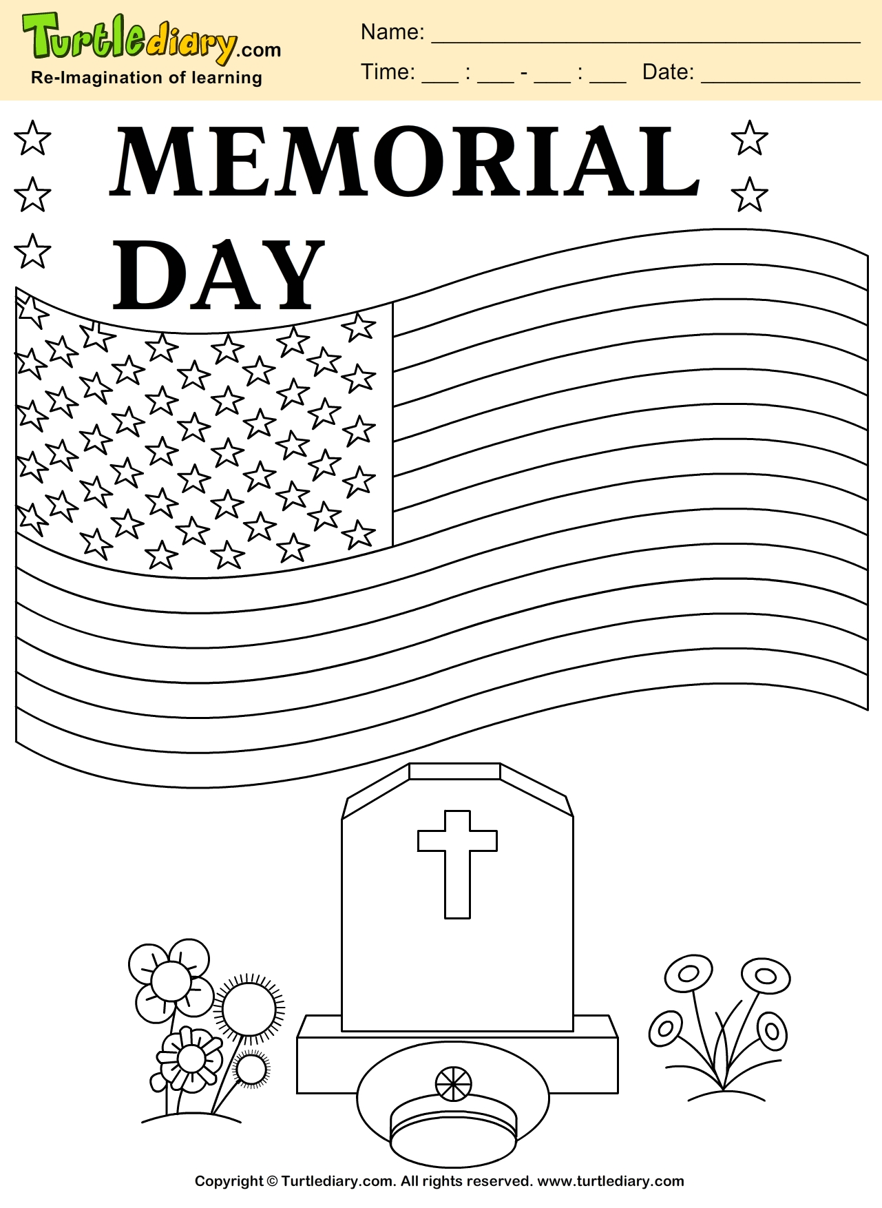 memorial day coloring pages - memorial day