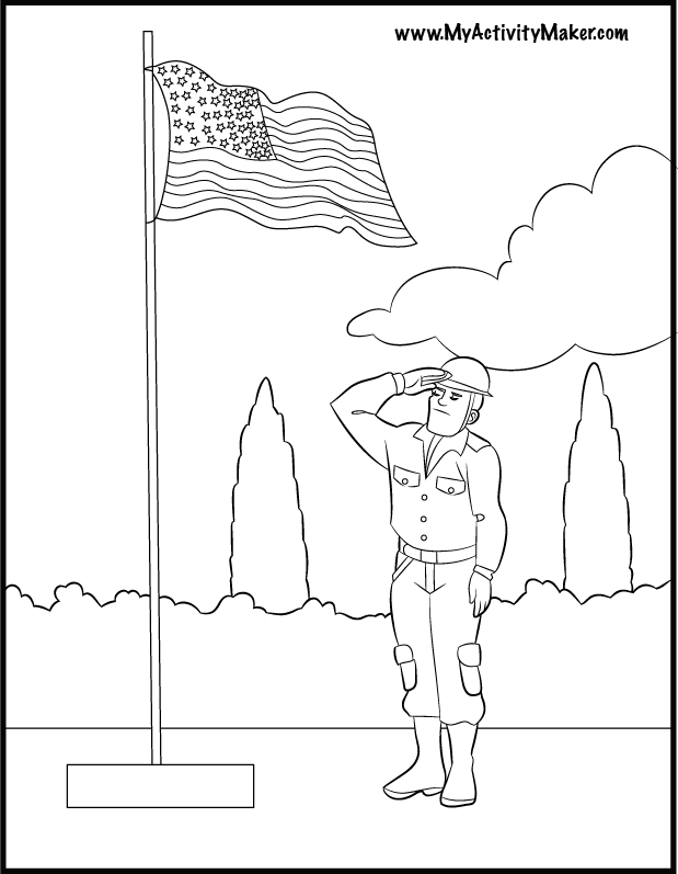 memorial day coloring pages - memorial day printable coloring pages
