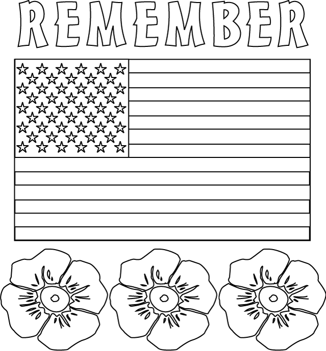memorial day coloring pages printable - 197