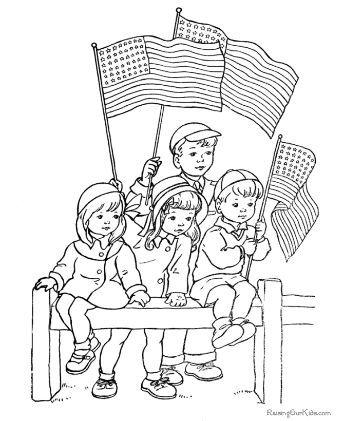 memorial day coloring pages printable - 002 memorial day coloring page