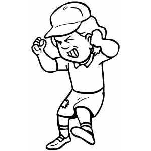 menorah coloring page - Angry Girl With Hat