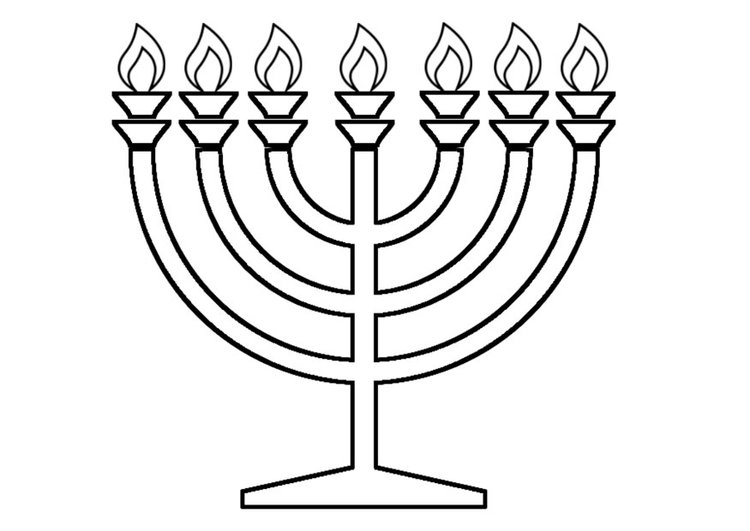 27 Menorah Coloring Page Collections | FREE COLORING PAGES