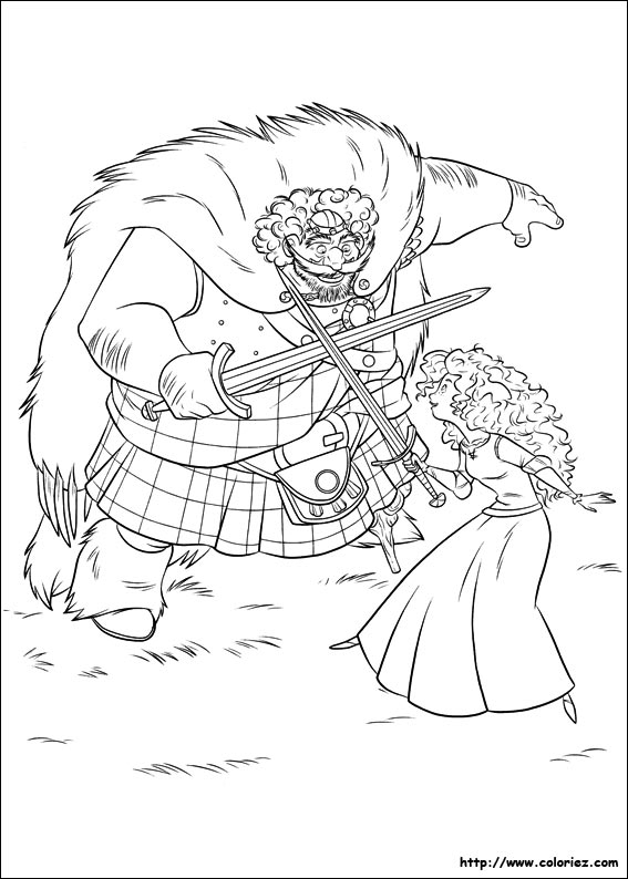 merida coloring pages - lecon d epee