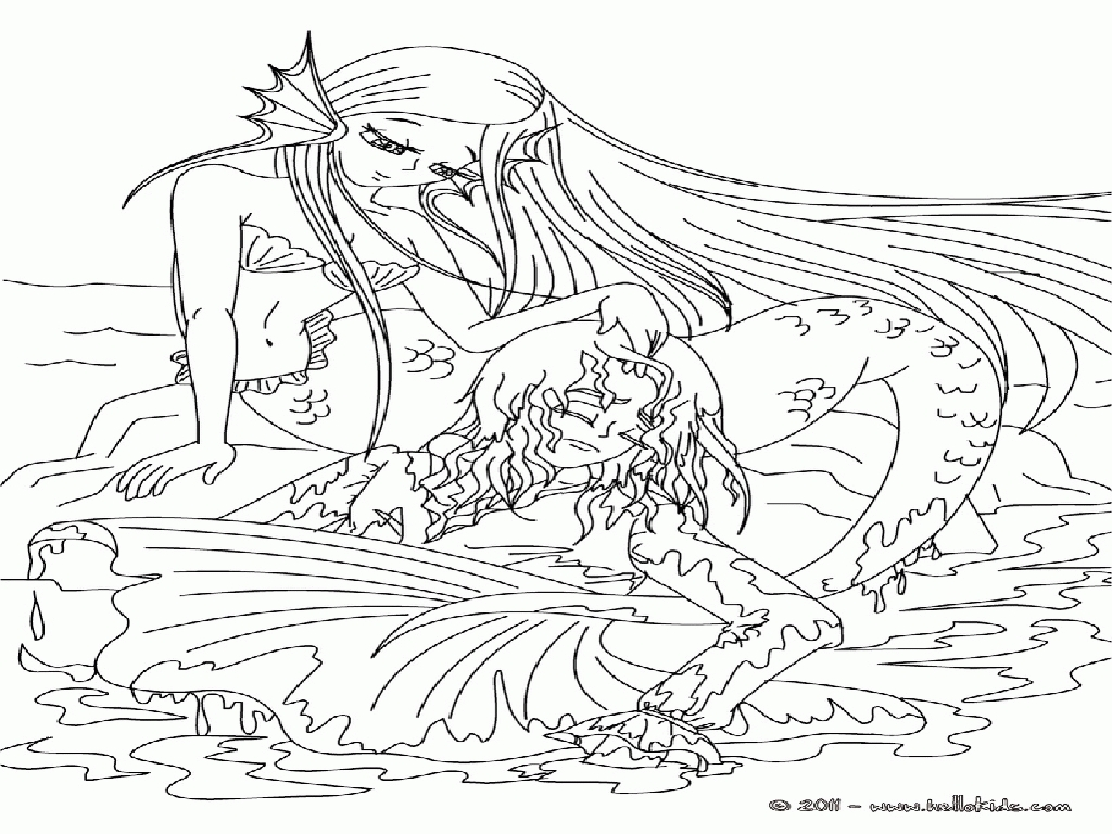 mermaid coloring pages for adults - adult coloring pages mermaid